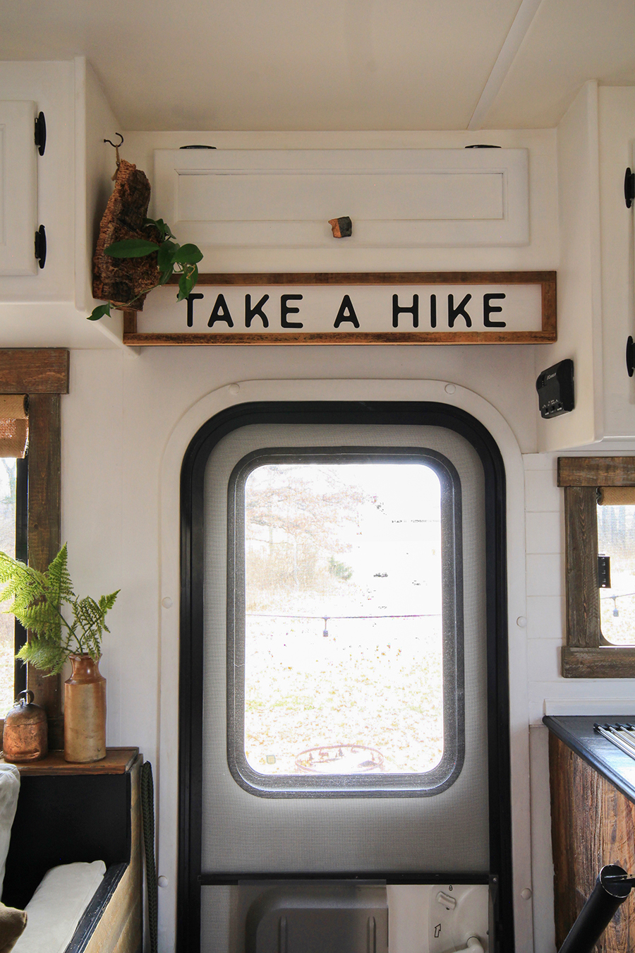 Take a Hike Sign in RV