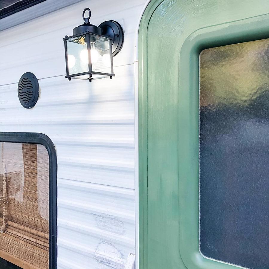 Renovated RV exterior