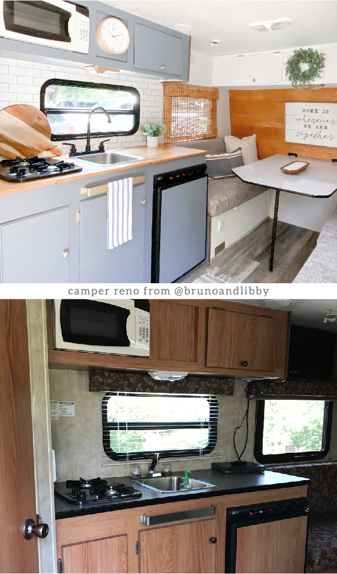 See how an accountant with a passion for DIY renovated this small camper for her recently retired parents
