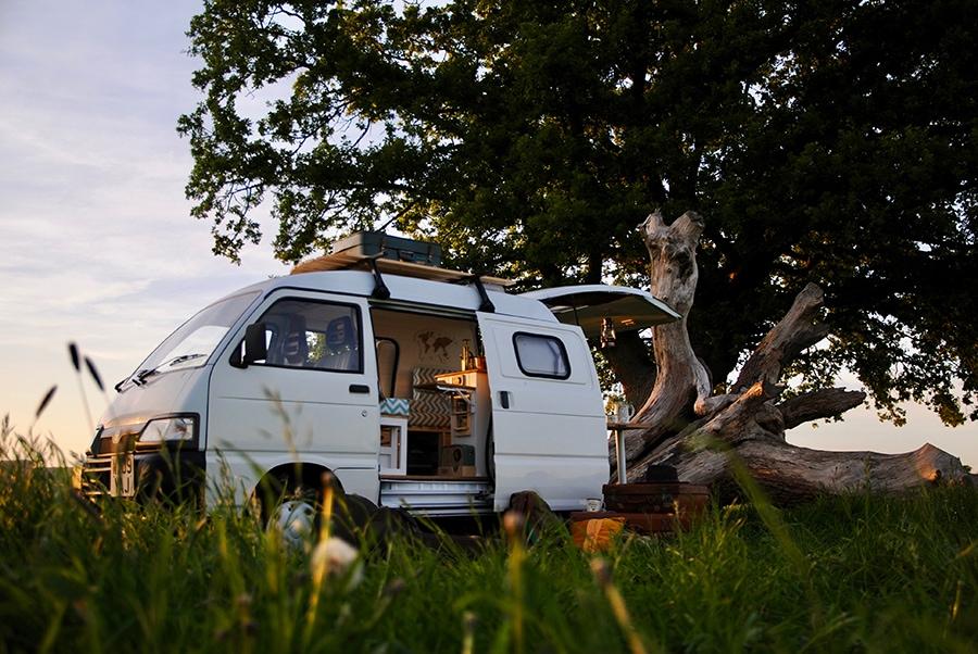 camper van in the country