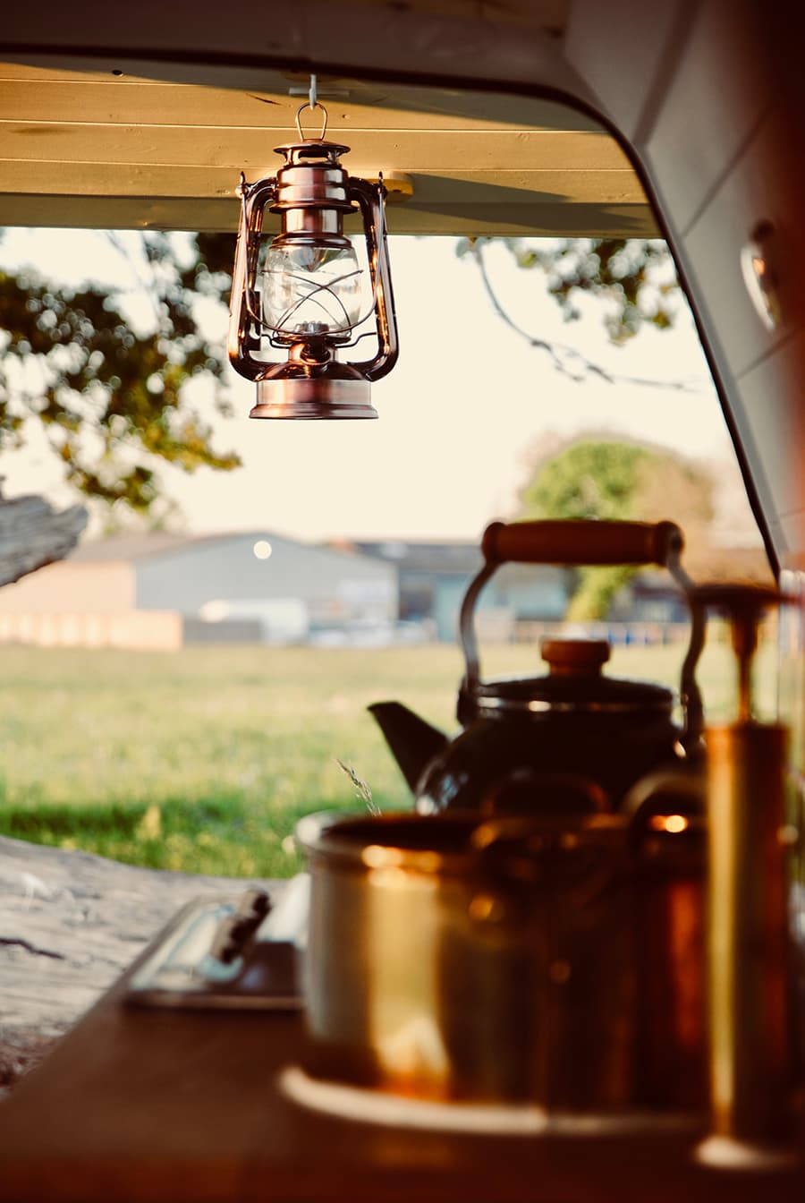 rustic camper can
