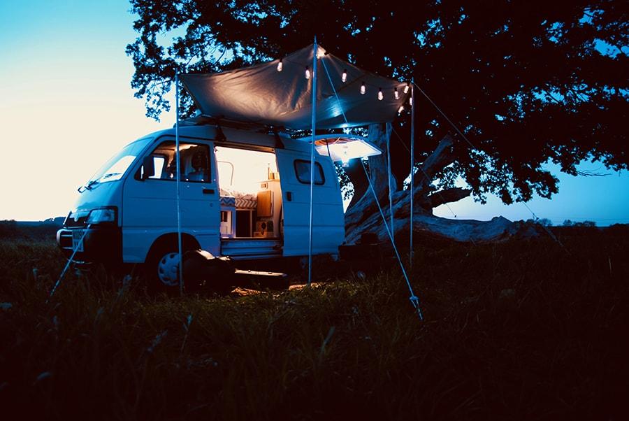 camper van at night