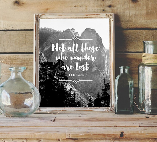 FREE Printable Not all those who wander are Lost