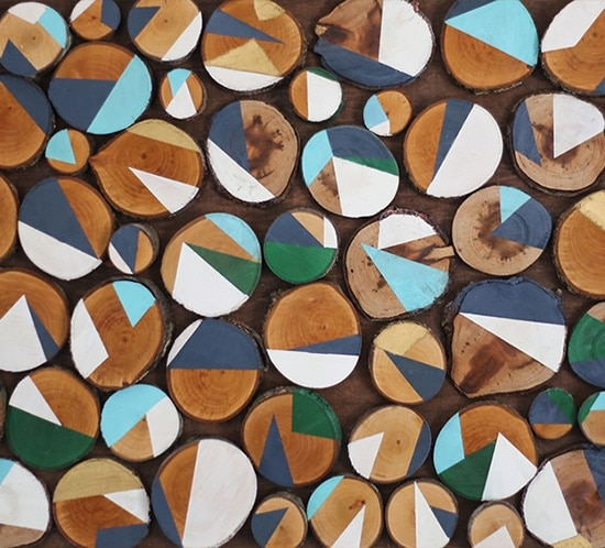 Wood Slice Wall Art | MountainModernLife.com